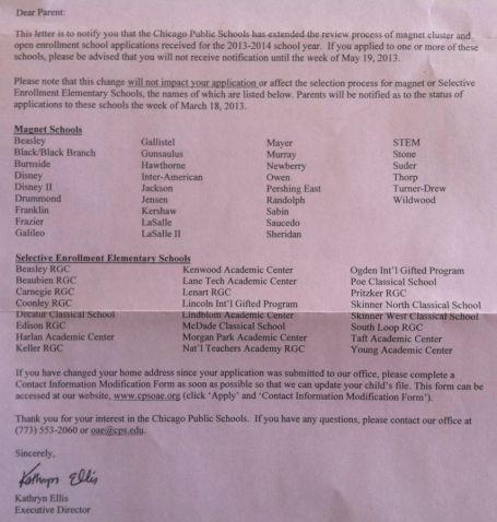 CPS Letter Magnet 2013